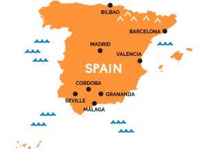 Map Of Spain Malaga.Skrydis Is Varsuvos į Malaga Ispanija