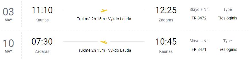 NAUJIENA. Tiesioginis skrydis iš Kauno į Kroatiją